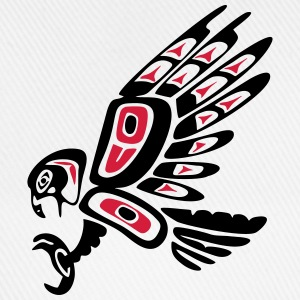 Native american falcon - tribal art symbol, indian Långärmade T-shirts - Basebollkeps
