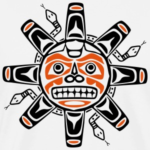 Native american sun, tribal art symbol, indians, Manga larga - Camiseta premium hombre