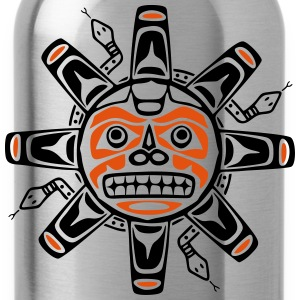 Native american sun, tribal art symbol, indians, Hoodies & Sweatshirts - Water Bottle