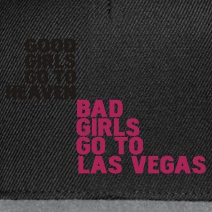 Schwarz bad girls go to las vegas T-Shirts - Snapback Cap
