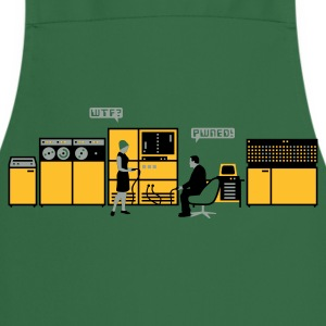 Moss green retro computer T-Shirts - Cooking Apron