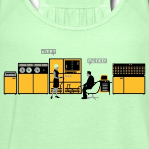 Moss green retro computer T-Shirts - Women's Tank Top by Bella