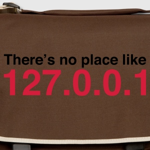 Marrone Coder No Place Like Localhost (2c, NEU) T-shirt - Tracolla