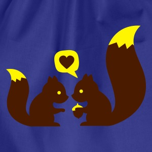 Turchese squirrels in love - to give each other T-shirt bambini - Sacca sportiva
