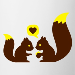 Turchese squirrels in love - to give each other T-shirt bambini - Tazza