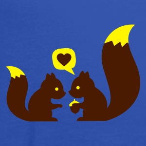 Turchese squirrels in love - to give each other T-shirt bambini - Top da donna della marca Bella