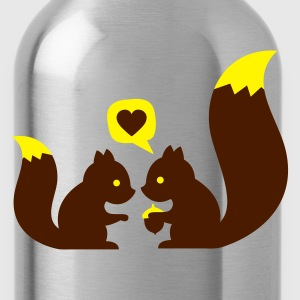 Turchese squirrels in love - to give each other T-shirt bambini - Borraccia