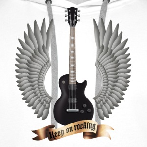 Weiß guitars_and_wings_black T-Shirts - Männer Premium Hoodie