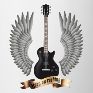 Weiß guitars_and_wings_black T-Shirts - Tasse