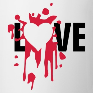 love_splatter_b T-shirts - Kop/krus