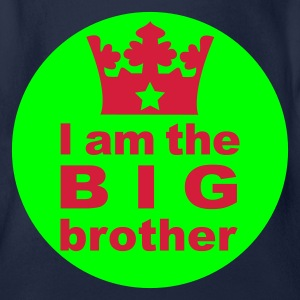 I am the Big Brother - Organic Short-sleeved Baby Bodysuit