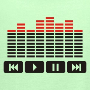 Kakigrøn Equalizer audio player dj T-shirts - Dame tanktop fra Bella