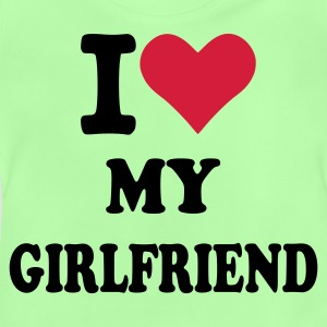 Kelly green I love my Girlfriend - Freundin Kinder T-Shirts - Baby T-Shirt