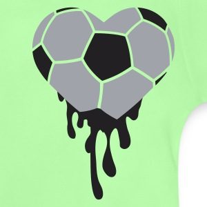 Kelly green bleeding heart for football Kids' Shirts - Baby T-Shirt