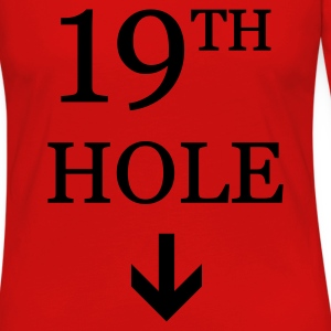 Golf: 19th hole T-Shirts - Dame premium T-shirt med lange ærmer