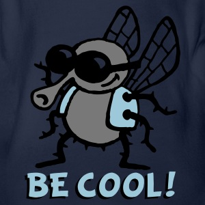 be_cool_fly_3c_white Tee shirts - Body bébé bio manches courtes