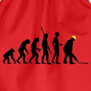 evolution_bauarbeiter_2c T-Shirts - Drawstring Bag