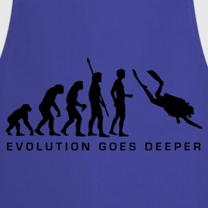 evolution_taucher_b Shirts - Cooking Apron