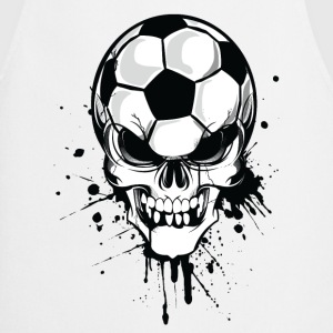 White Sand beige soccer skull kicker ball football pirat Men's T-Shirts T-Shirts - Cooking Apron