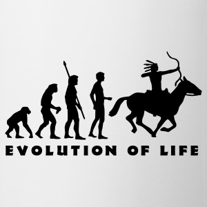 evolution_indianer_b T-shirts - Kop/krus