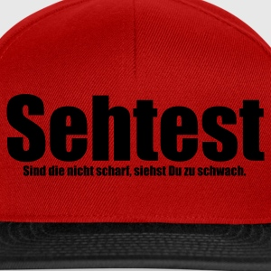 Rot Sehtest T-Shirts - Snapback Cap