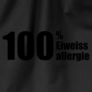 Chocolate 100% Eiweissallergie © T-Shirts - Drawstring Bag