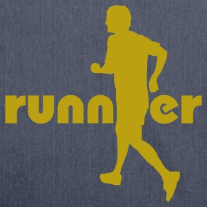 Navy Running, Runner T-Shirts - Shoulder Bag made from recycled material