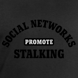 Schwarz Social Networks promote Stalking © T-Shirts - Sweat-shirt Homme Stanley & Stella