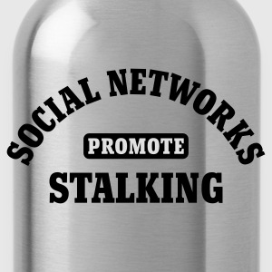 Schwarz Social Networks promote Stalking © T-Shirts - Cantimplora