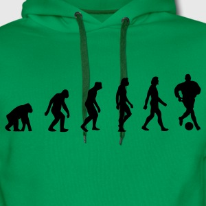 Khaki green Football Soccer Evolution (1c) Men's T-Shirts - Men's Premium Hoodie