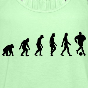Khaki green Football Soccer Evolution (1c) Men's T-Shirts - Women's Tank Top by Bella