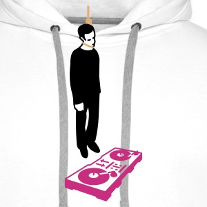 hang the dj (2-3 color)  - Sweat-shirt à capuche Premium pour hommes