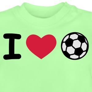 Kelly green I Love Fußball Kinder T-Shirts - Baby T-Shirt