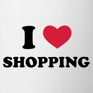 Weiß I Love Shopping T-Shirts - Tasse