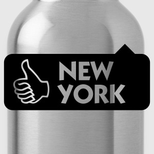 Jeansblau New York Thumbs Up (1c) T-Shirts - Trinkflasche