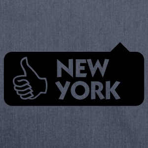 Jeansblau New York Thumbs Up (1c) T-Shirts - Schultertasche aus Recycling-Material