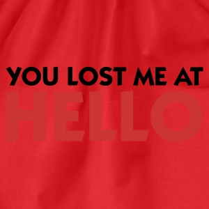 Red You lost me at Hello 1 (2c) Women's T-Shirts - Drawstring Bag