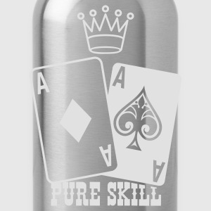 Mosgroen Poker - Pure Skill T-shirts - Drinkfles
