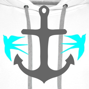 Anchor and Swallows - Men's Premium Hoodie
