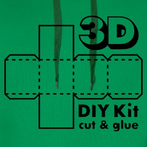 Mosgrøn 3D Do it Yourself Kit T-shirts - Herre Premium hættetrøje