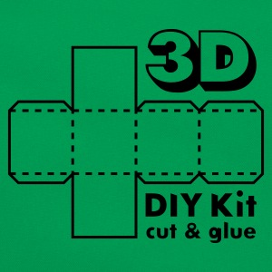 Mosgroen 3D Do it Yourself Kit T-shirts - Retro-tas