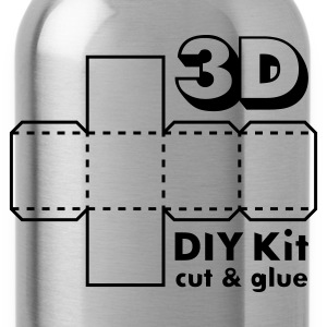 Mosgrøn 3D Do it Yourself Kit T-shirts - Drikkeflaske