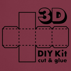 Robijnrood 3D Do it Yourself Kit T-shirts - Keukenschort
