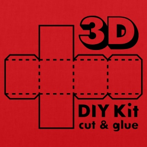 Rubinrød 3D Do it Yourself Kit T-shirts - Mulepose