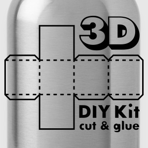 Rubinrød 3D Do it Yourself Kit T-shirts - Drikkeflaske