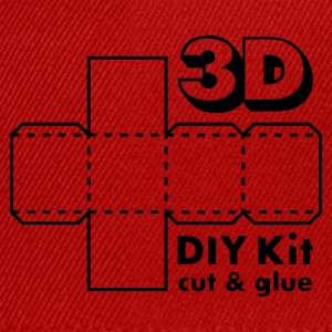 Robijnrood 3D Do it Yourself Kit T-shirts - Snapback cap