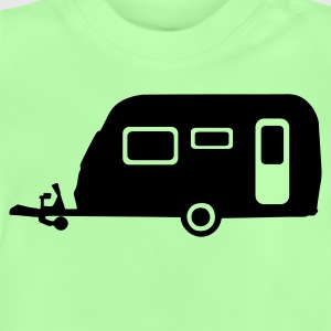 Kelly green Camping Kinder T-Shirts - Baby T-Shirt