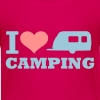 Pink Camping Kinder T-Shirts - Teenager Premium T-Shirt