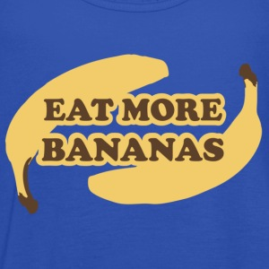 Cyan Eat more bananas - Eat more bananas Kids' Shirts - Women's Tank Top by Bella