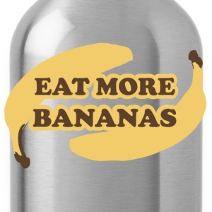 Cyan Eat more bananas - Eat more bananas Kids' Shirts - Water Bottle